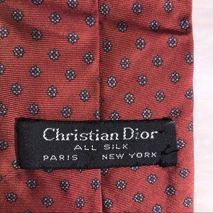 Christian Dior 100% silk necktie red